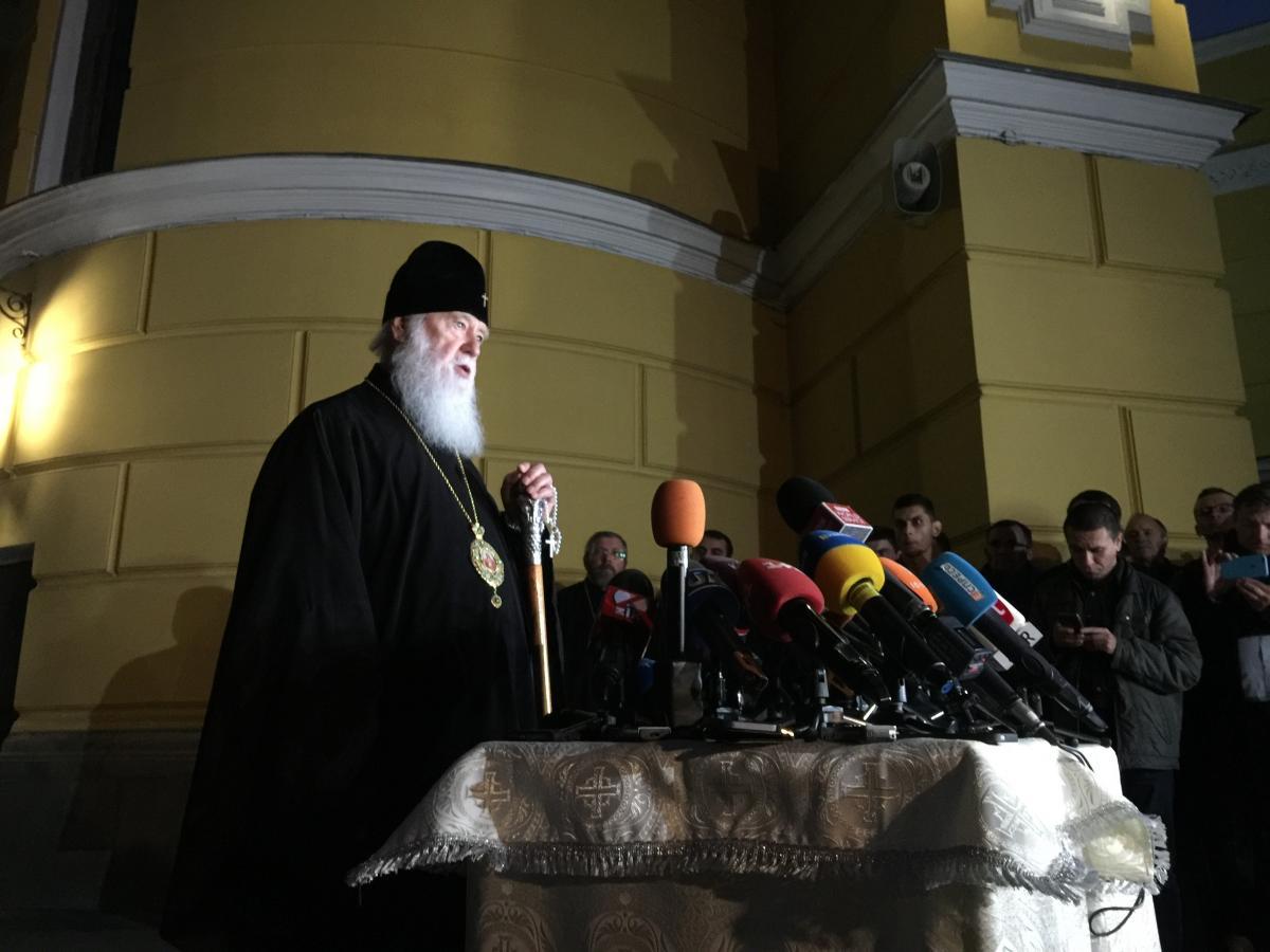 Патриарх Филарет продолжит служение украинской церкви, заявил Евстратий / фото УНИАН