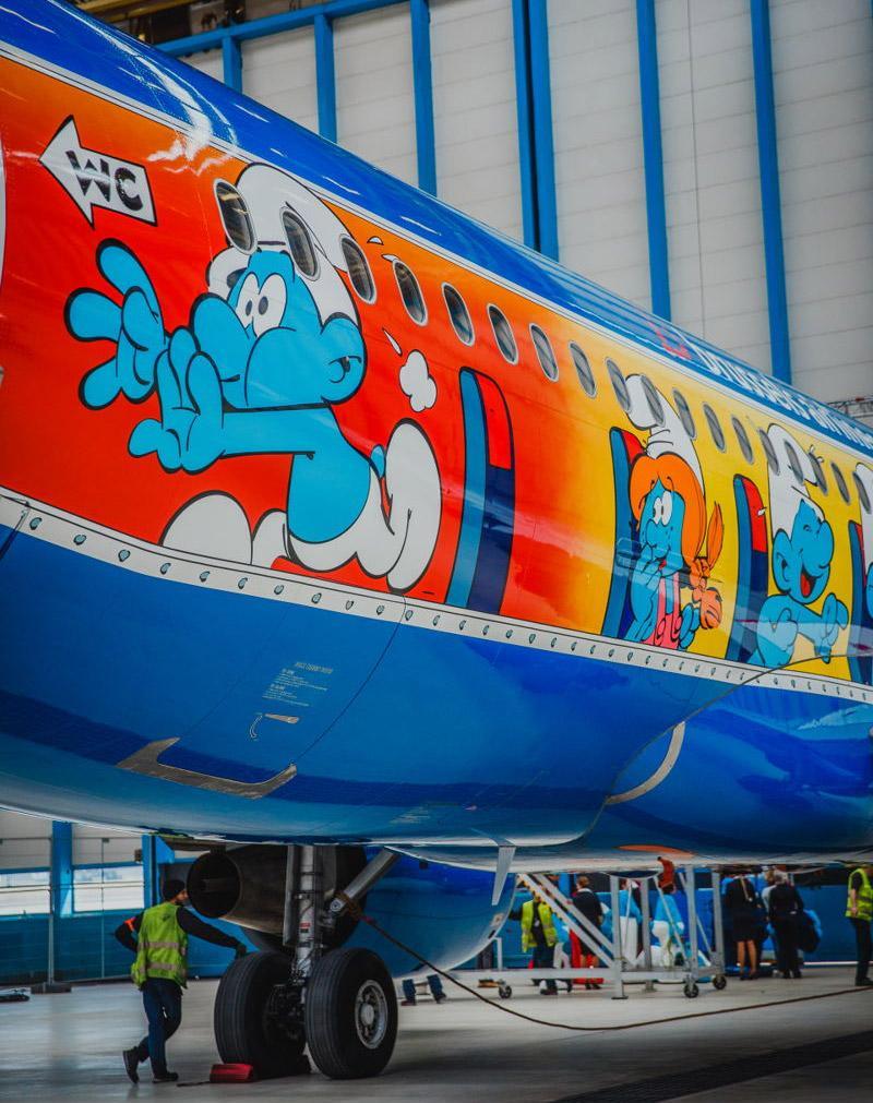 Літак зі смурфіками / Фото avianews.com/Brussels Airlines
