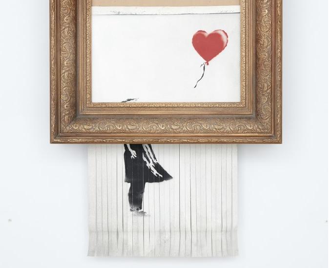 Відразу після того, як картину продали за $1,5 млн, вона самознищилася \ sothebys.com