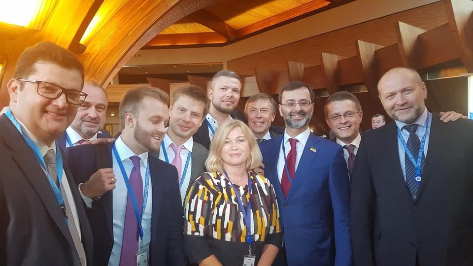 Украинская делегация в ПАСЕ /фото Facebook / Ирина Геращенко