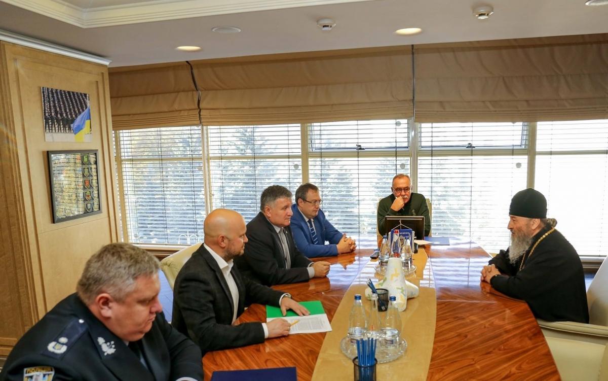 Арсен Аваков зустрівся з Блаженнішим Митрополитом Онуфрієм / mvs.gov.ua