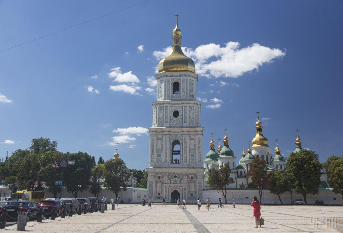 Парубий предлагает обсудить идею предоставить собор Святой Софии для служения поместной православной церкви в Украине / фото УНИАН