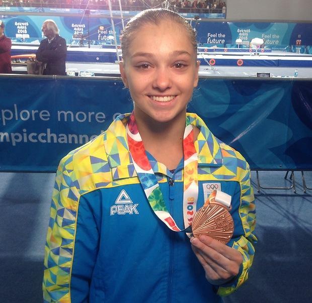 Анастасия Бачинская завоевала бронзу юношеской Олимпиады в гимнастическом многоборье / noc-ukr.org