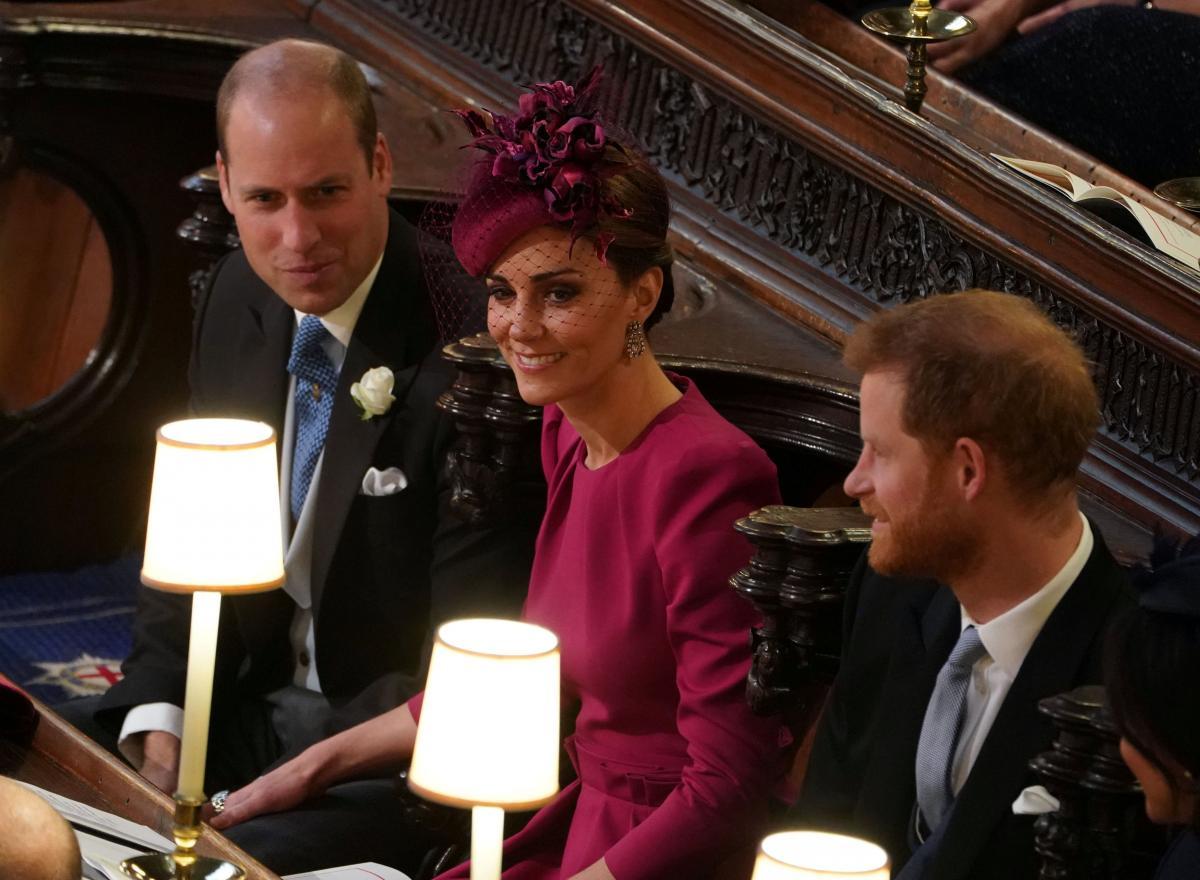 Принц Вільям, Кейт Міддлтон і принц Гаррі / фото REUTERS