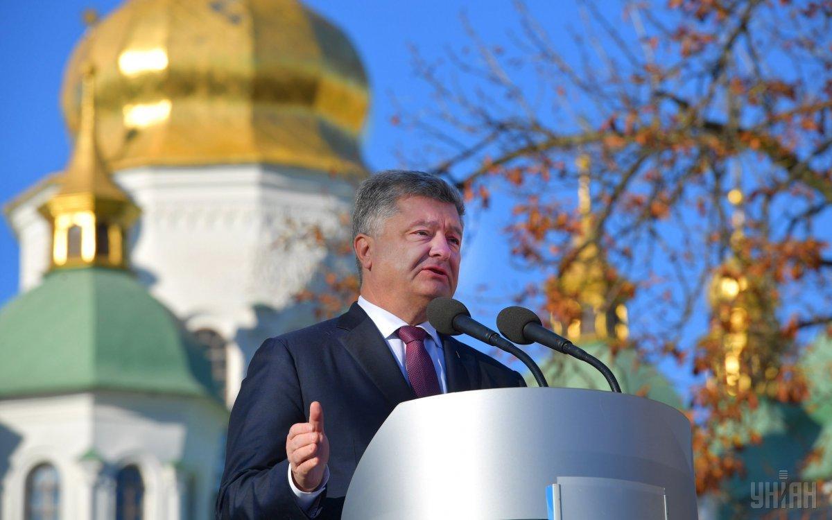 Порошенко прибыл в Софии Киевской / Иллюстрация - фото УНИАН