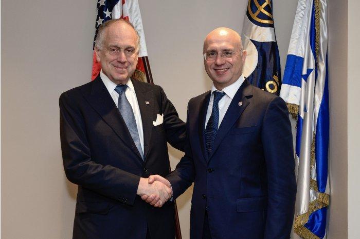 Премьер-министр Республики Молдова Павел Филип и президент Всемирного еврейского конгресса Рональд Лаудер / moldpres.md