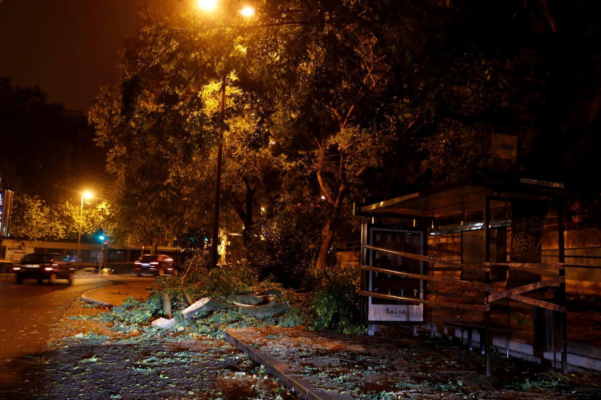 Повалені гілки в Бенфіці / REUTERS