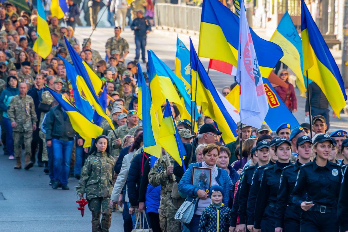 Марш военных прошел в Днепре / фото Информатор