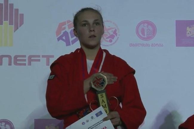 Алла Бегеба - чемпионка молодежного чемпионата мира по самбо / sambo.net.ua