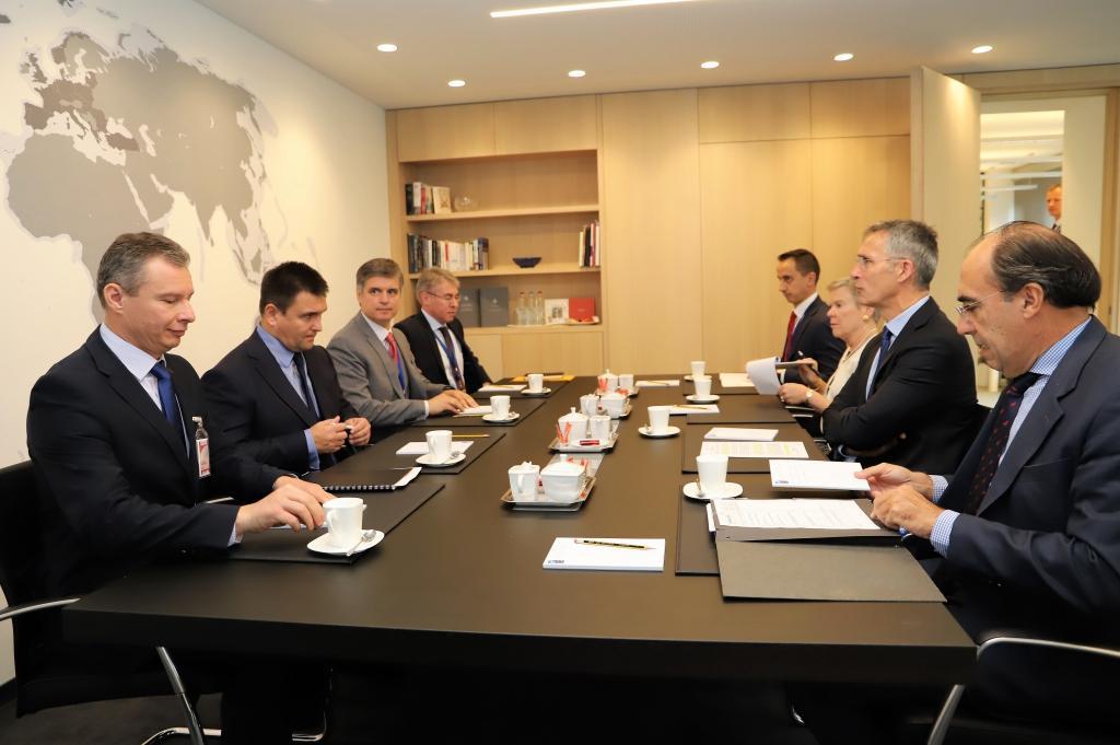 Міністр закордонних справ України Павло Клімкін зустрівся з генсеком НАТО Єнсом Столтенбергом / nato.mfa.gov.ua