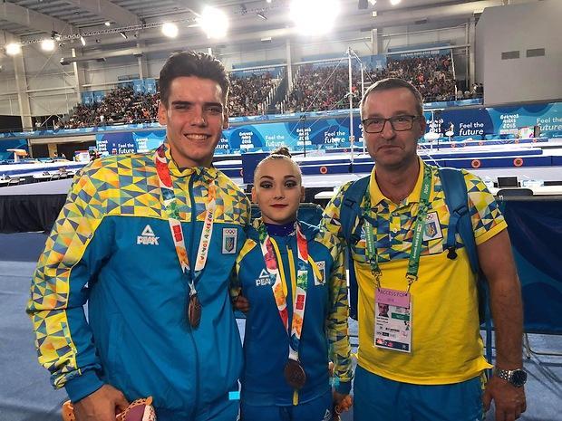 Украинские акробаты одержали историческую бронзу Юношеских олимпийских игр / noc-ukr.org