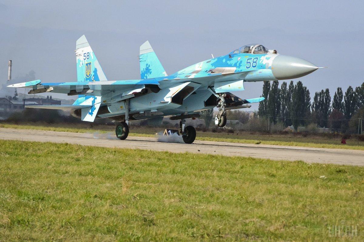 """Навчання """"Чисте небо"""" продовжаться попри падіння винищувача Су-27 / УНІАН"""