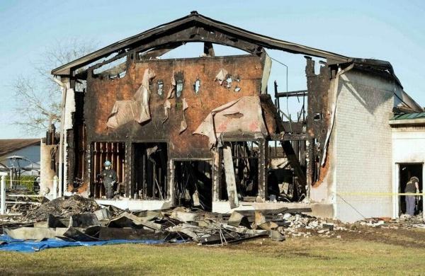 В результате пожара мечеть выгорела полностью / islam-today.ru