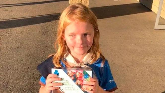 9-річна Еліна Чайлдз з міста Едмонтон / фото cbc