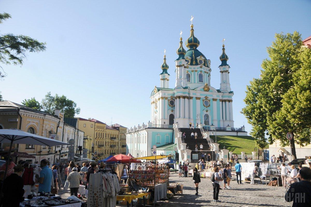 У 1753 році було завершено будівництво Андріївської церкви в Києві / фото УНІАН
