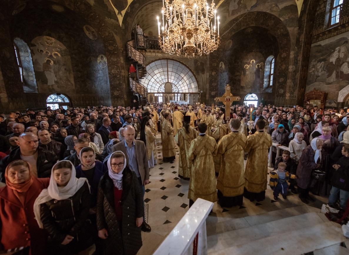За богослужением была вознесена сугубая молитва о мире в Украине / news.church.ua