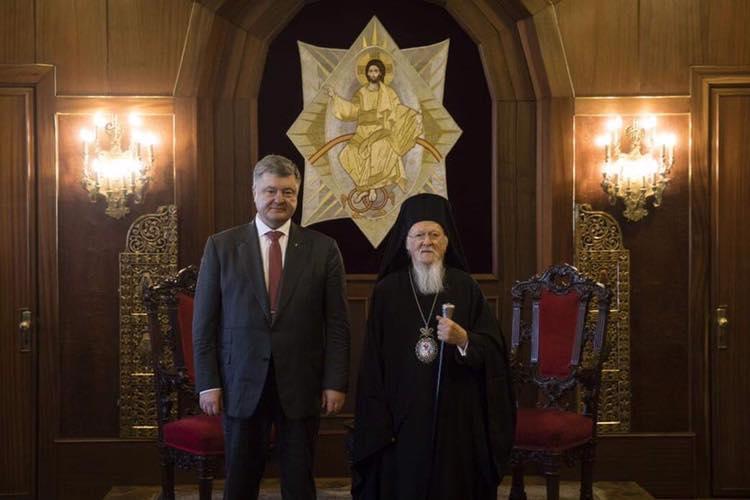 Порошенко та Патріарх Варфоломій / facebook.com