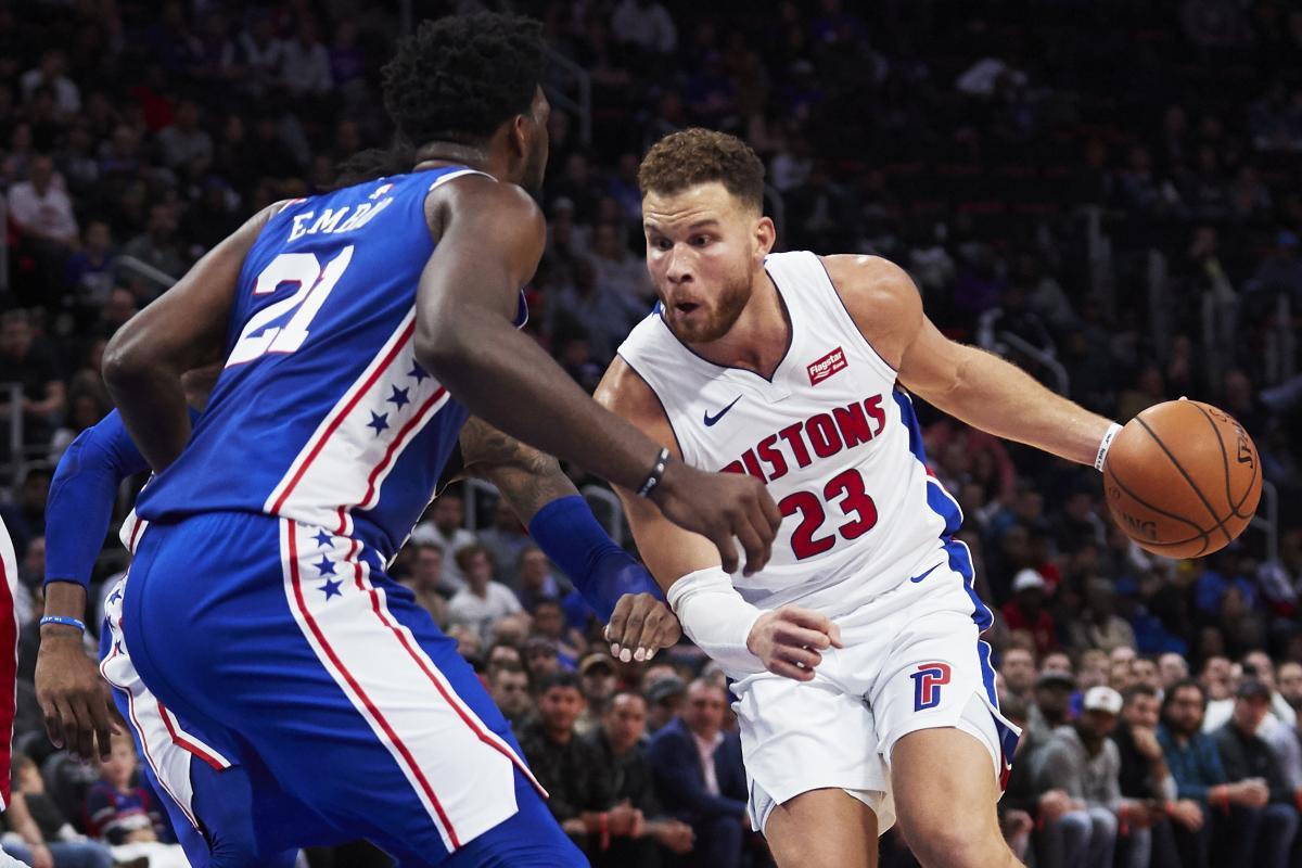 Гриффин набрал 50 очков в матче Детройта с Филадельфией/ Reuters