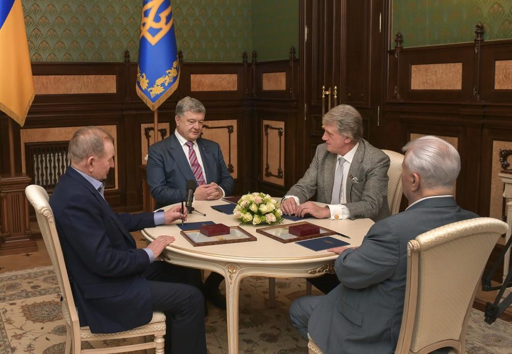 Кравчук, Кучма і Ющенко не підтримують Порошенка у рішенні запровадити воєнний стан / фото прес-служба АП