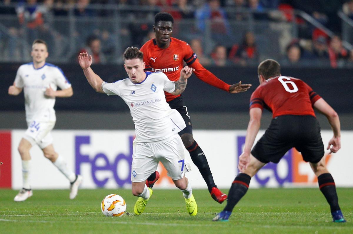 Динамо сумело обыграть Ренн в гостевом матче Лиги Европы / Reuters