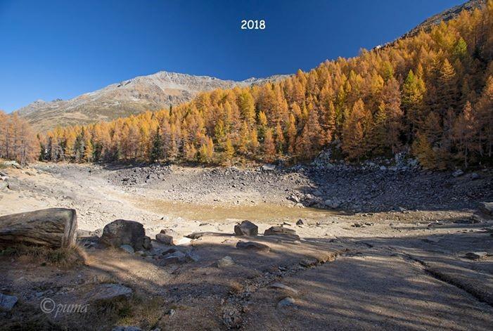 В Італії зникло Блакитне озеро / фото facebook.com/marco.pugliese