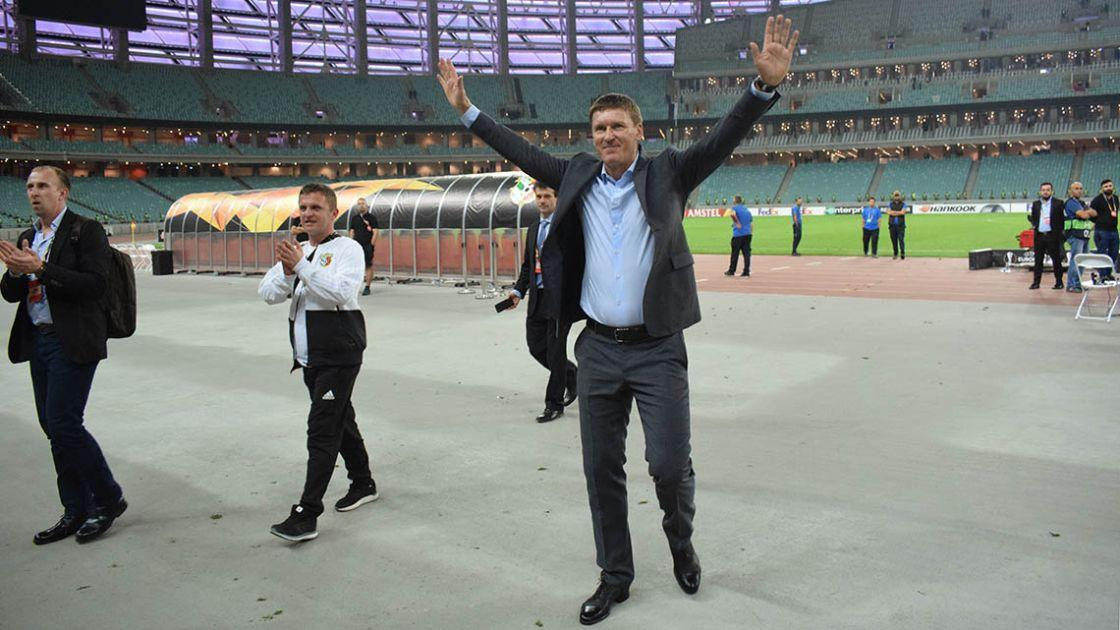 Василь Сачко задоволений діями своєї команди в матчі Ліги Європи в Баку / vorskla.com.ua