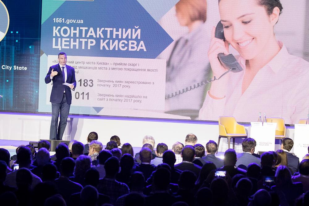 Кличко во время выступления на третьем Kyiv Smart City Forum 2018