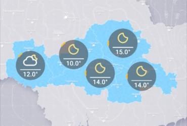 Прогноз погоды в Украине на четверг, вечер 18 октября