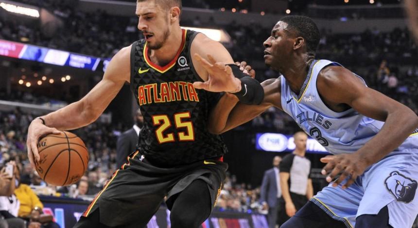 Атланта украинца Лэня проиграла Мемфису, уступив второй матч подряд в сезоне НБА