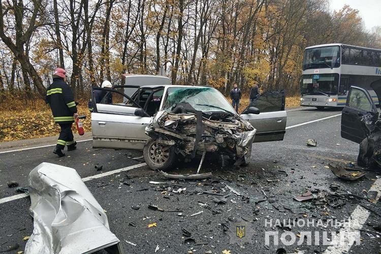 Травми отримала лише водійка Audi / фото Нацполіція