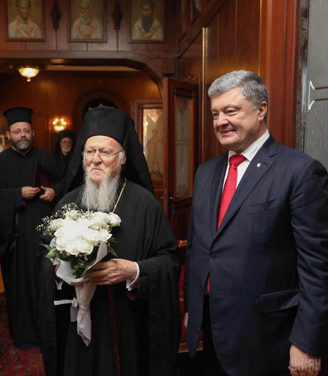 Президент Украины проводит встречу с Вселенским патриархом / фото УНИАН