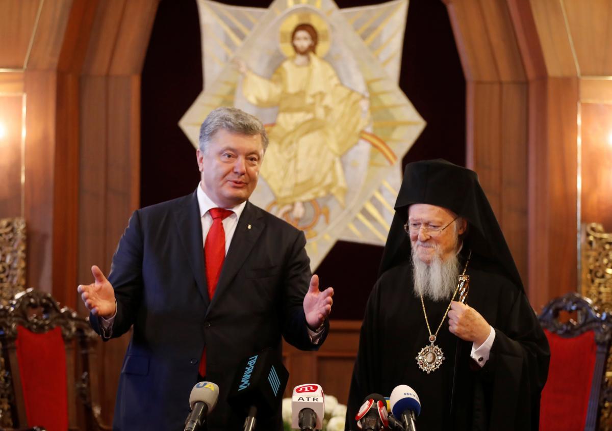 ПетрПорошенко и патриарх Варфоломей / REUTERS