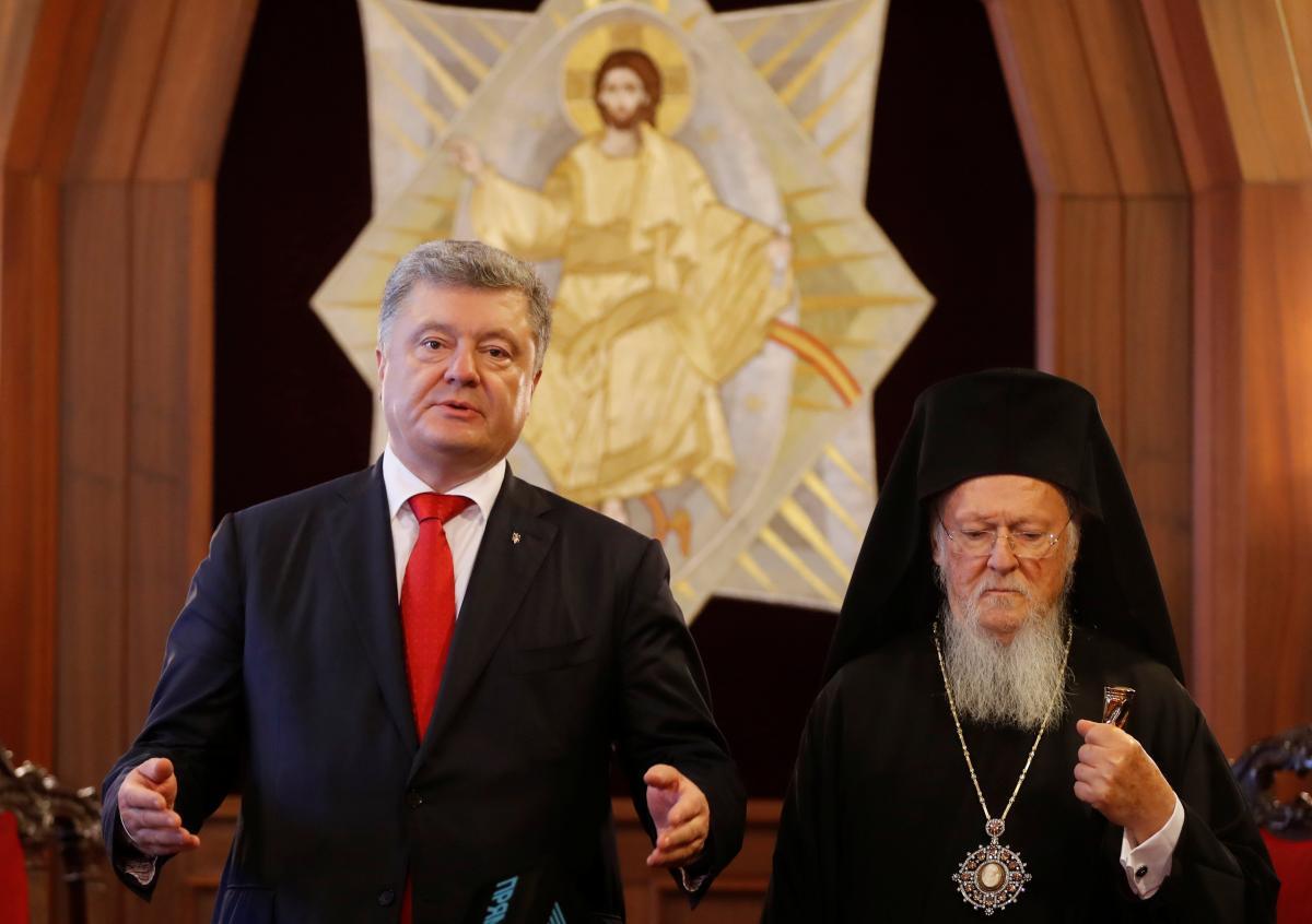 Петр Порошенко и патриарх Варфоломей \ REUTERS
