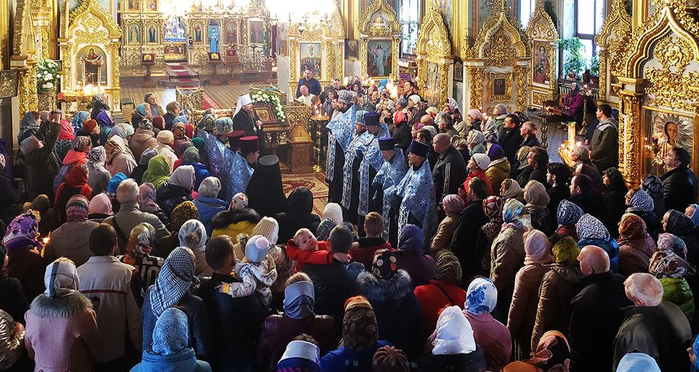 В Изюм прибыла икона Богородицы «Всецарица»