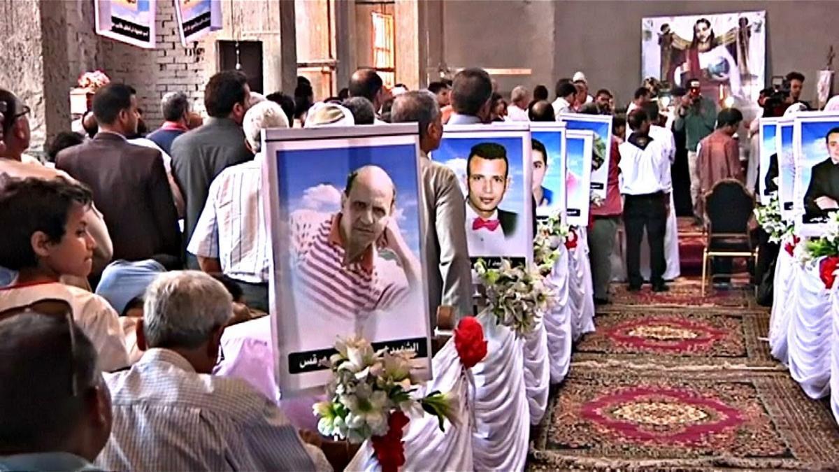 Похороны жертв теракта / YouTube