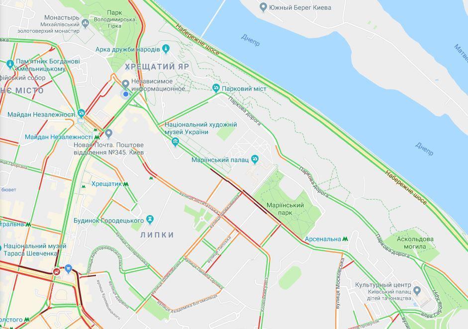 Скриншот - Google maps