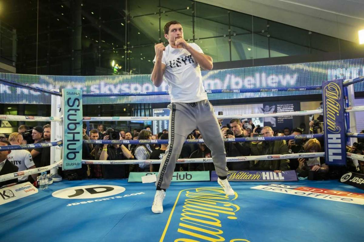 Усик оказался легче британского боксера за сутки до боя / К2