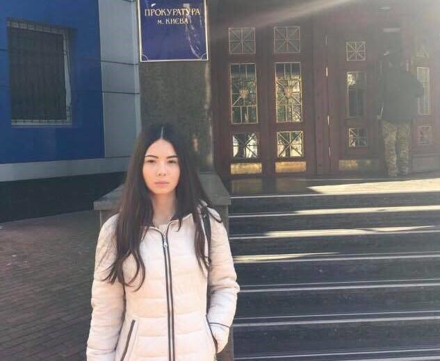 Студентка Бурейко заявила, що їй погрожував не чиновник Нацполіції, а невідомі з метою його дискредитації / фото Facebook