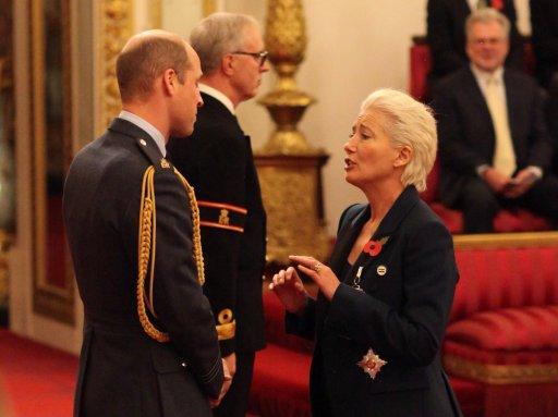 Під час самого нагородження Емма Томпсон змусила принца Вільяма збентежитись / Twitter