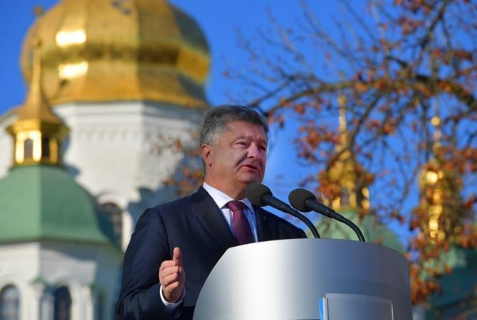 """Петр Порошенко заявил, что """"российской церкви нечего делать в Украине"""" / Фото: president.gov.ua"""