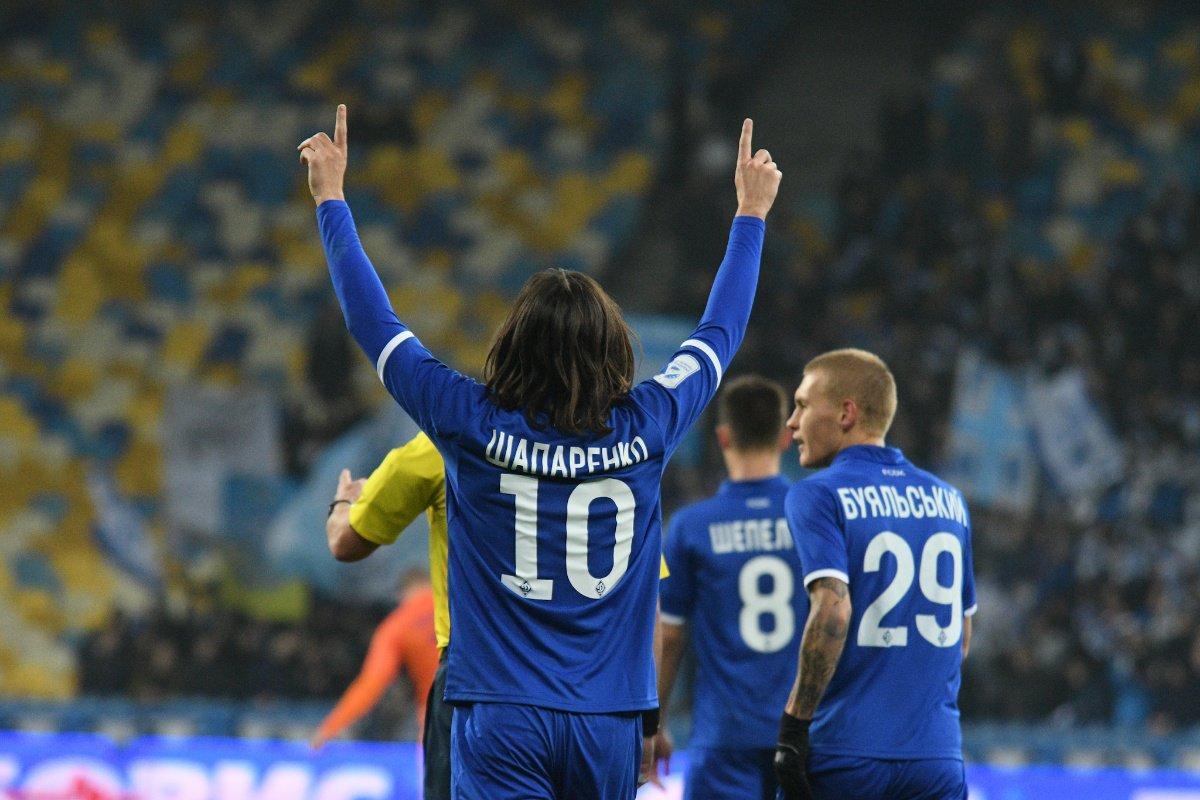 Шапаренко відкрив рахунок у матчі Динамо і Маріуполя в УПЛ / twitter.com/dynamokyiv