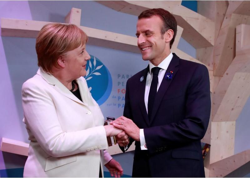 Ангела Меркель и Эммануель Макрон / REUTERS