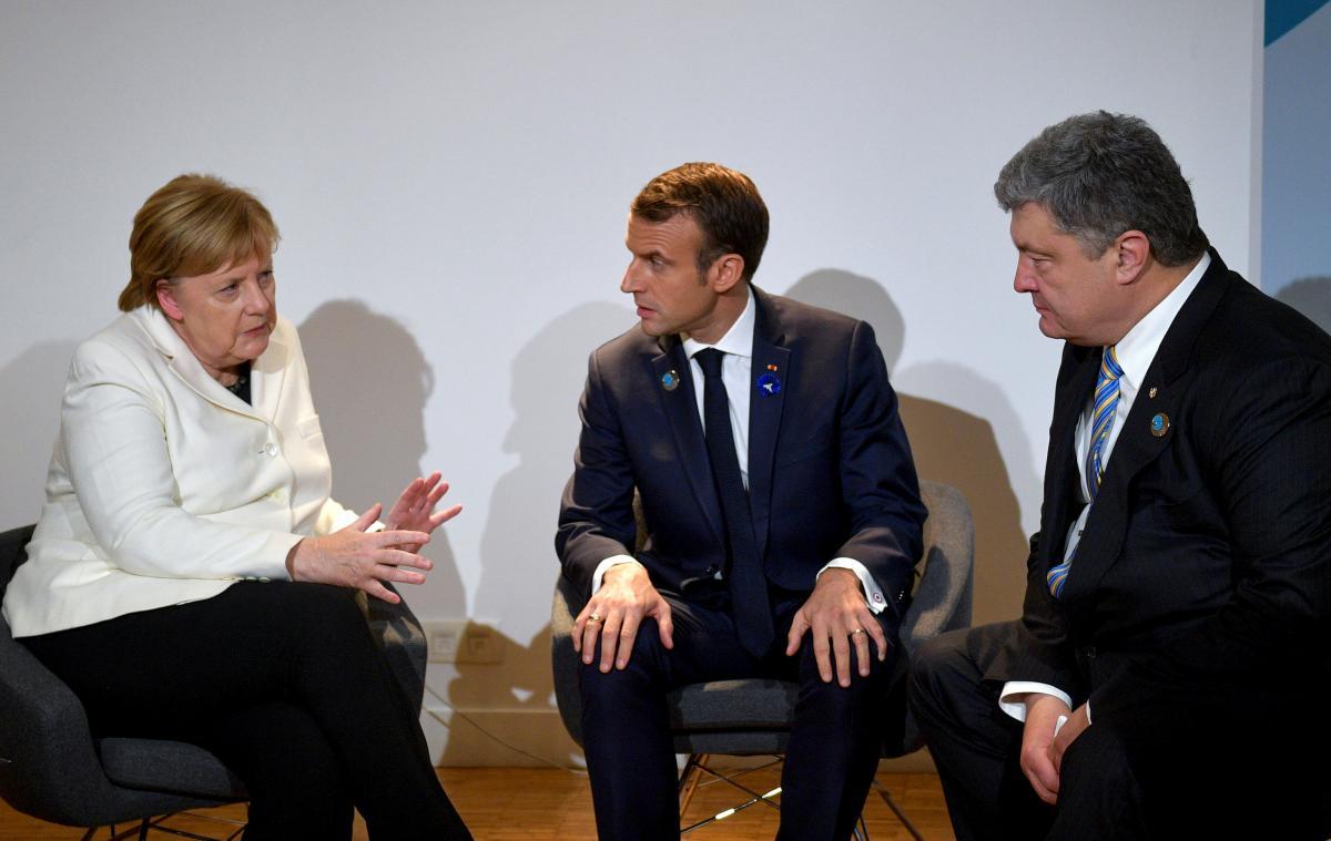Встреча Меркель, Макрона и Порошенко / REUTERS