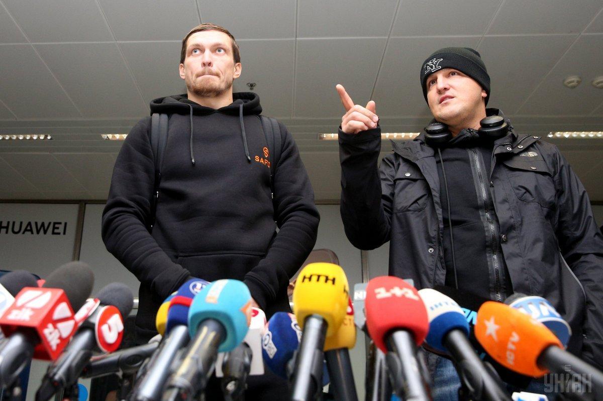 Александр Усик и Александр Красюк / фото: УНИАН
