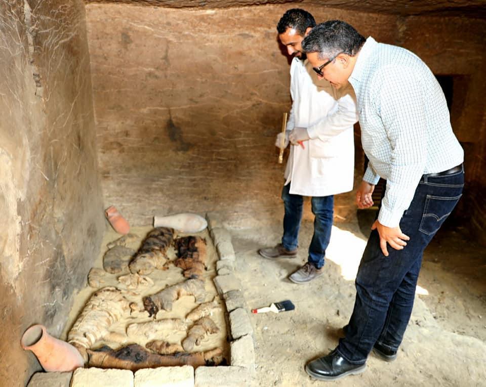 В Египте обнаружили семь гробниц с мумиями кошек и скарабеев / facebook.com/moantiquities