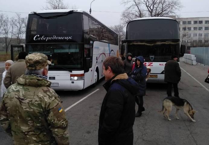 Автобусы со сторонниками УКРОПа задержали на пути в Краматорск / ukrop.party