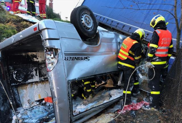 В микроавтобусе находилось пятеро заробитчан из Закарпатской области / фото: Новости Закарпатья