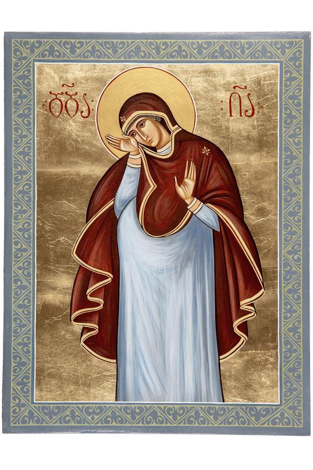 Перед образом молятся о даровании детей / facebook.com/svyatovvedenskiy