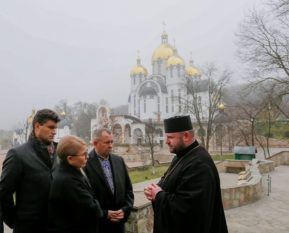 Юлія Тимошенко відвідала собор Зарваницької Божої Матері УГКЦ / facebook.com/YuliaTymoshenko