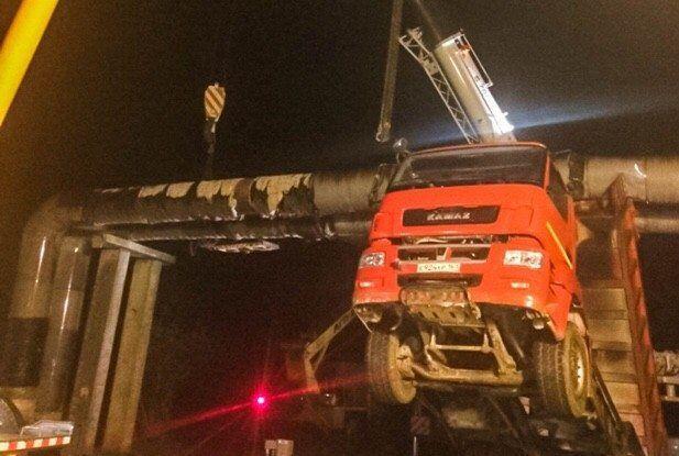 Оккупанты снова устроили аварию при строительстве Крымского моста / фото керчь-город.рф